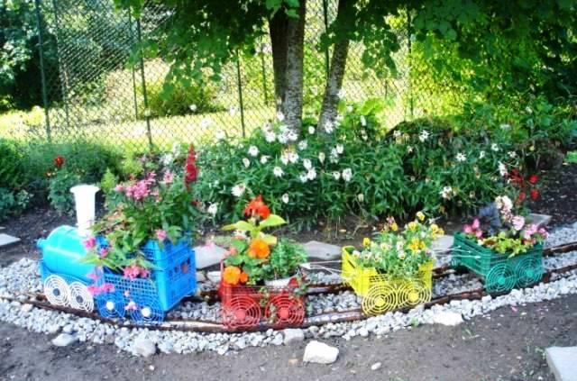 Детские идеи для сада своими руками