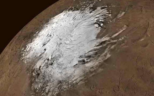 На Марсе обнаружен огромный ледник