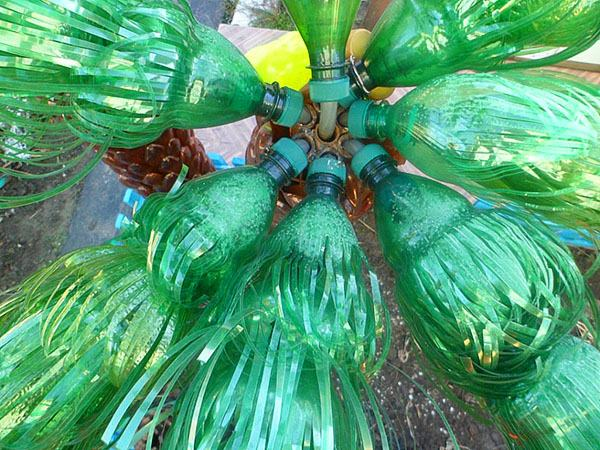 Как сделать лист из пластиковой для пальмы 784