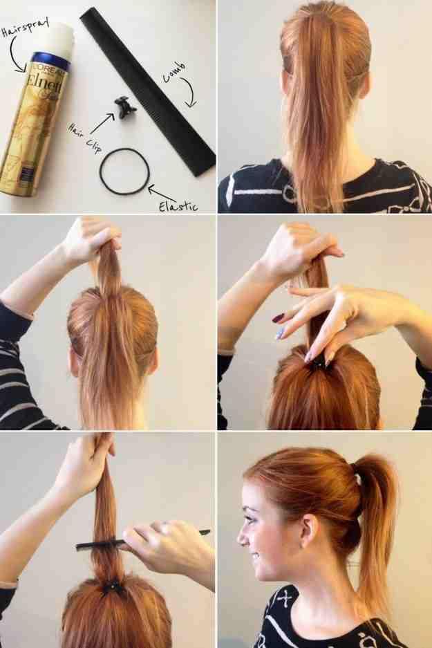 Как сделать хвост только из волос 426