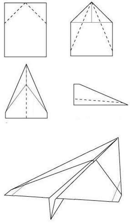 Делаем самолет из бумаги: