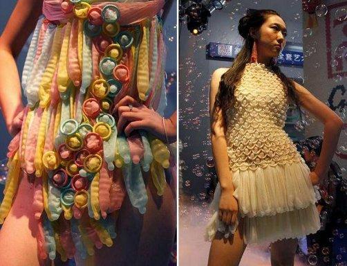 Платья сделанные из подручных материалов