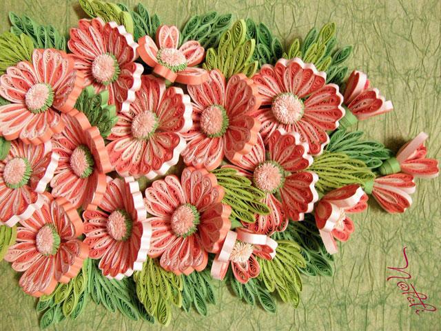 Квиллинг цветов. Схемы нежных