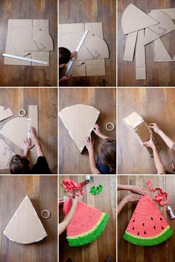 Как сделать пиньяту в форме звезды