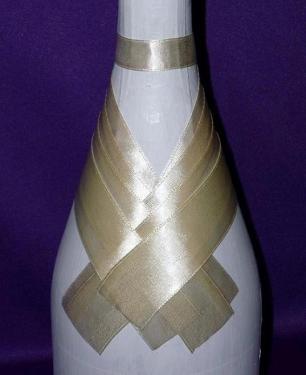 Как украшать бутылки на свадьбу своими руками