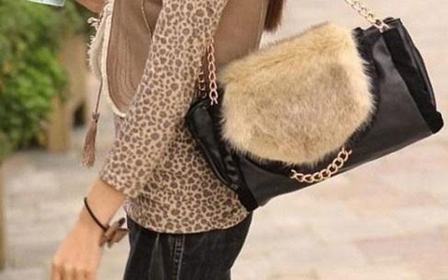 Декор сумок мехом своими руками