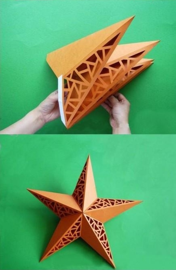 Сделать своими руками звезду из картона