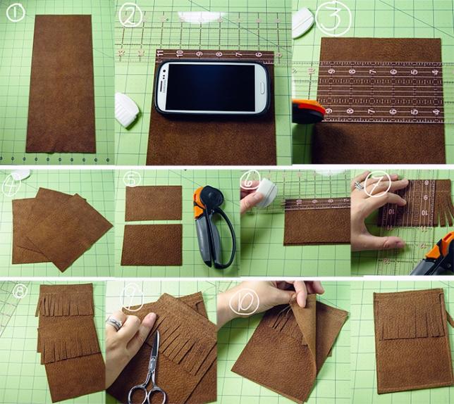 Как сшить чехол для телефона своими руками с выкройкой 463