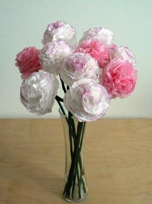 Цветы из бумаги (схемы).