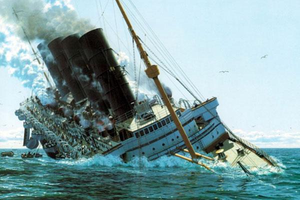 морской лайнер Лузитания