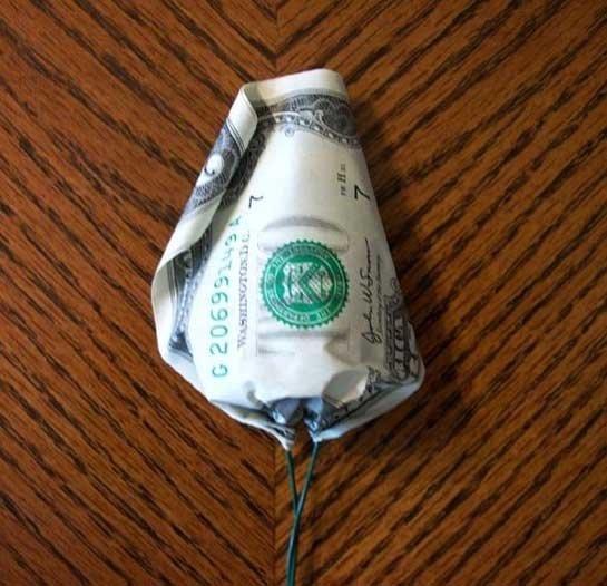 Интересный подарок из денег фото
