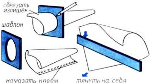 Бумага легче свернется в конус