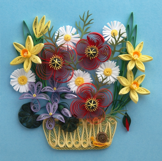 Paper Pattern Quilling Flowers