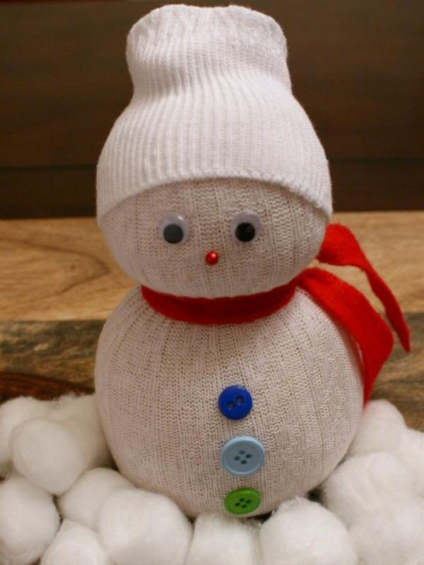 Как сделать своими руками снеговика в домашних условиях 77