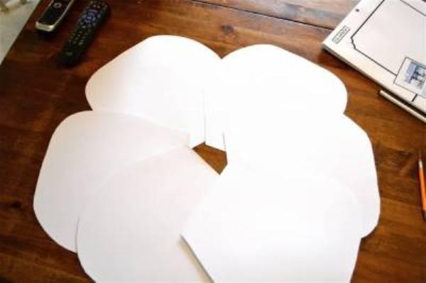 Огромный цветок из бумаги своими руками мастер