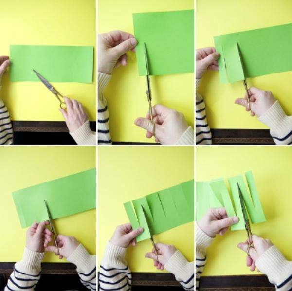 Как сделать новогодний дождик из бумаги