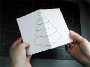 Как сделать объемную новогоднюю открытку своими руками