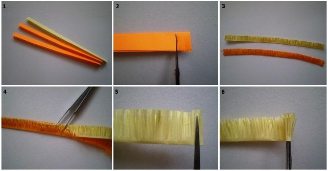 Как сделать из бумаги полоски 540