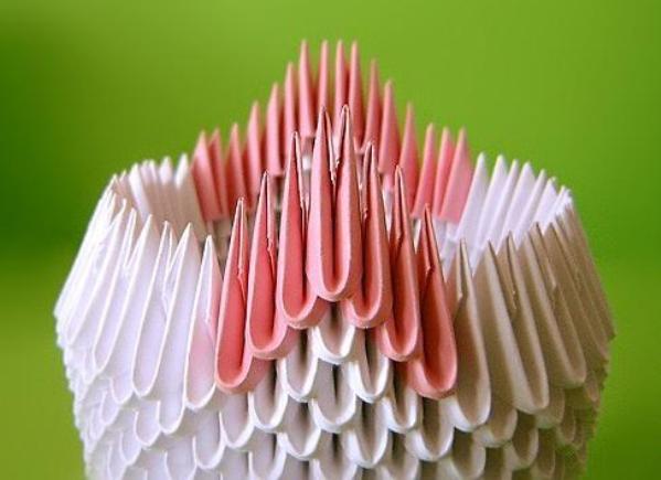 Модульное оригами двойной лебедь схема журнал мод фото.
