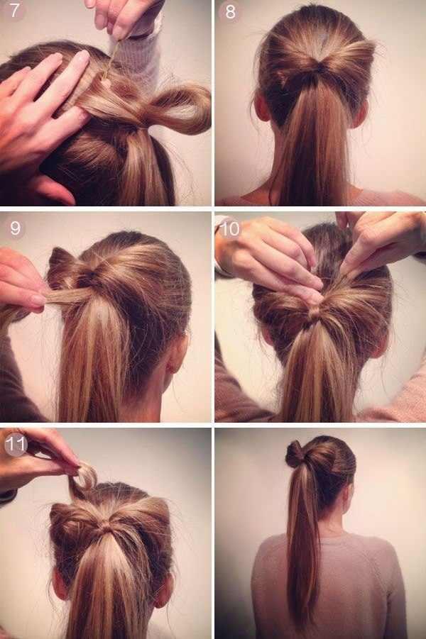 Пошагово как сделать хвост из волос
