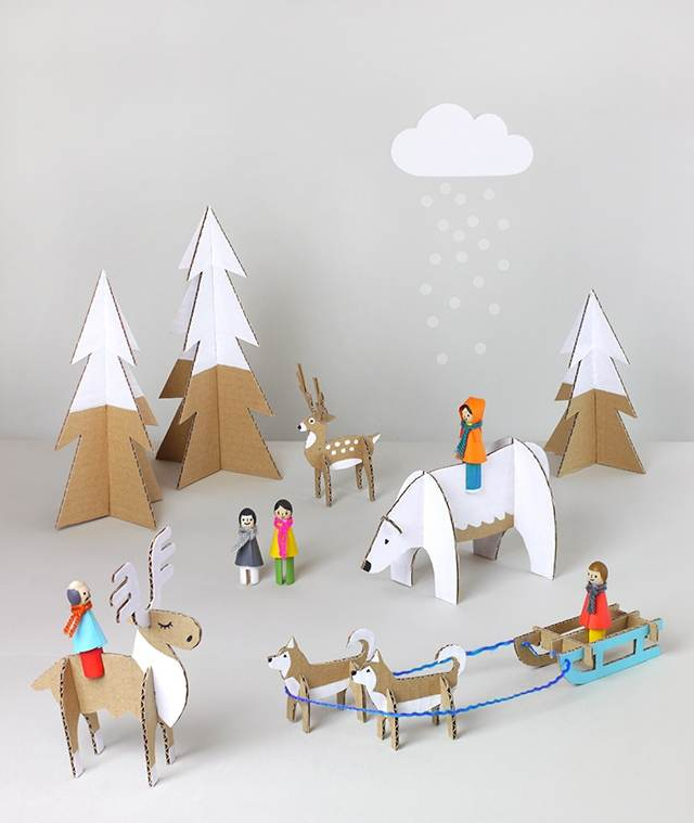 Объёмные поделки из картона для детского сада