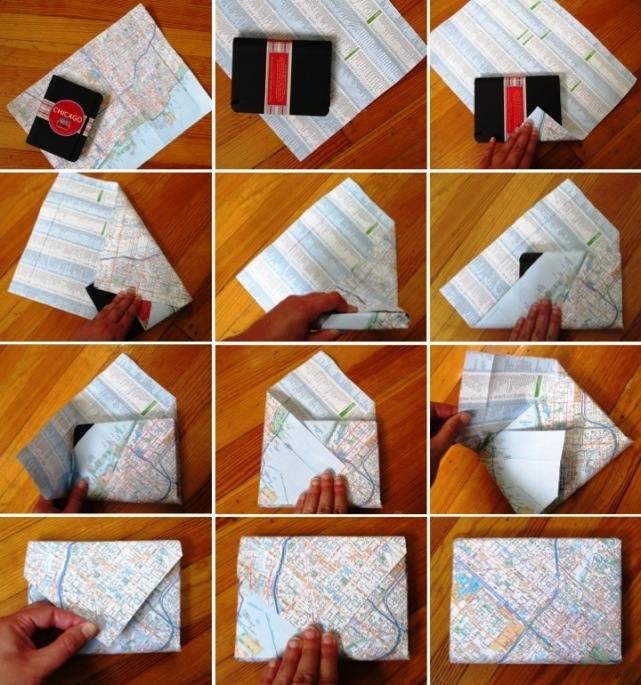 Как завернуть в бумагу