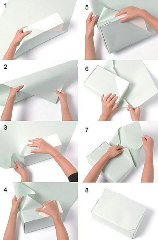 Как бумагой упаковать подарок 74