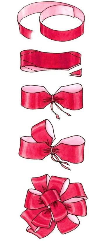 Бант для украшения подарка
