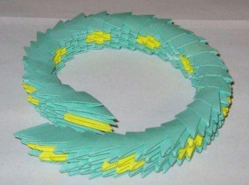 Модульное оригами - схемы сборки Змеи.