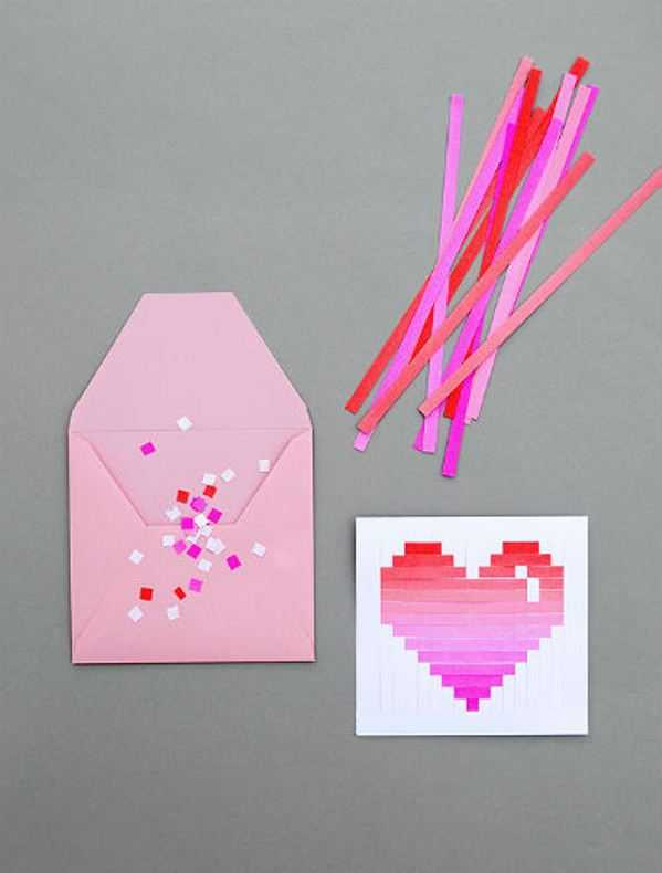 Открытка валентинки своими руками из бумаги
