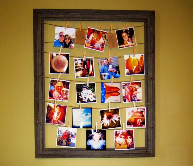 Коллаж из фотографий в рамке своими руками