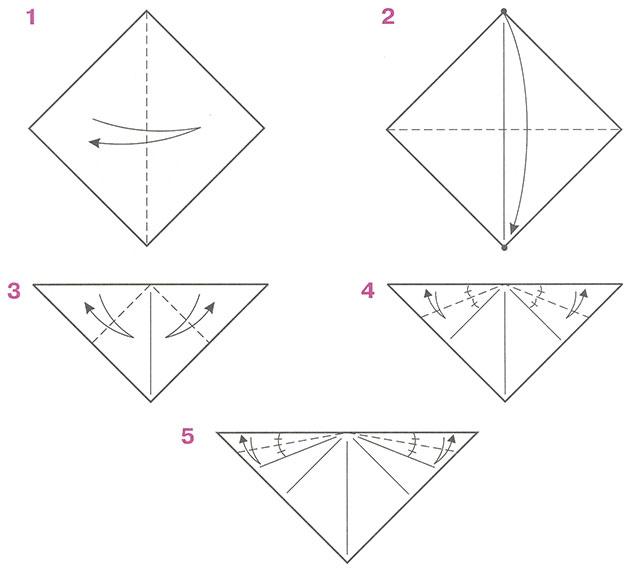 Оригами схема подснежник