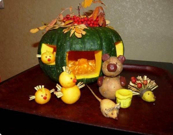 Детские поделки фото на тему осень