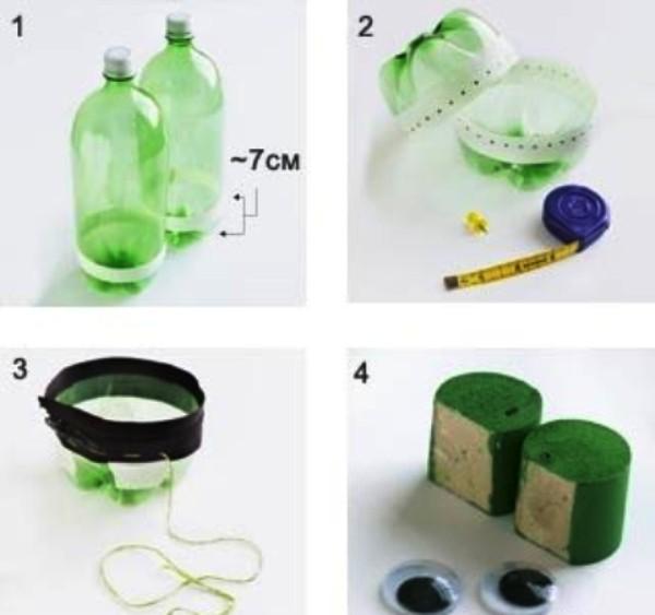 Как сделать из бутылки лягушку