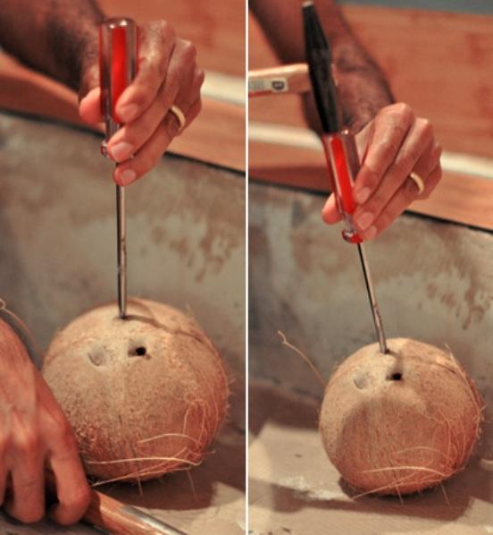 Как правильно расколоть кокос в домашних