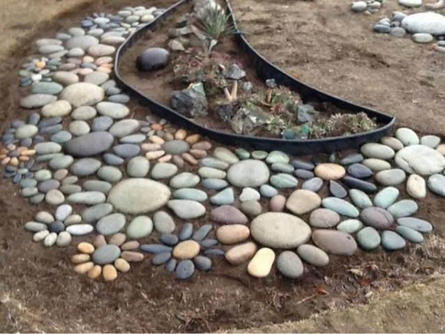 Огород из камней своими руками 588