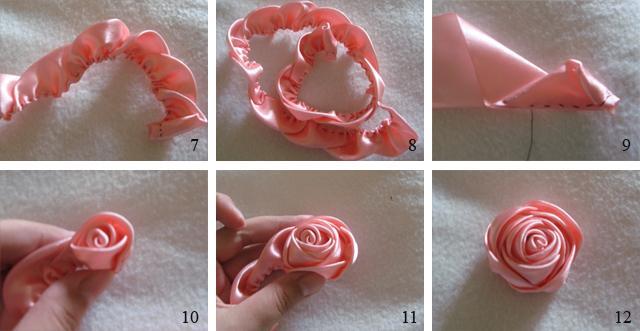 Розы из ленточек своими руками