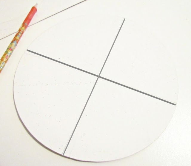 2. Нужно разделит круг на 4