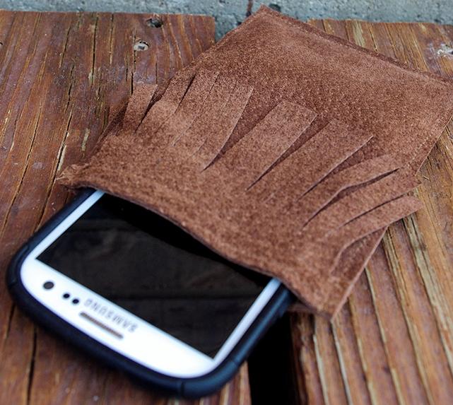 Кожаный чехол для телефона своими руками