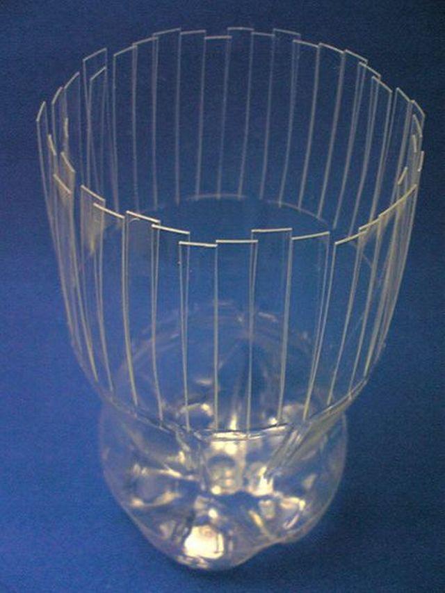Красивые вазы из пластиковых бутылок своими руками