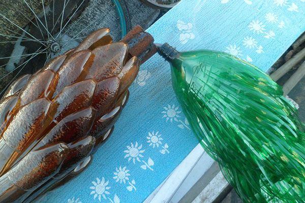 Как из пластмассовой бутылки сделать пальму