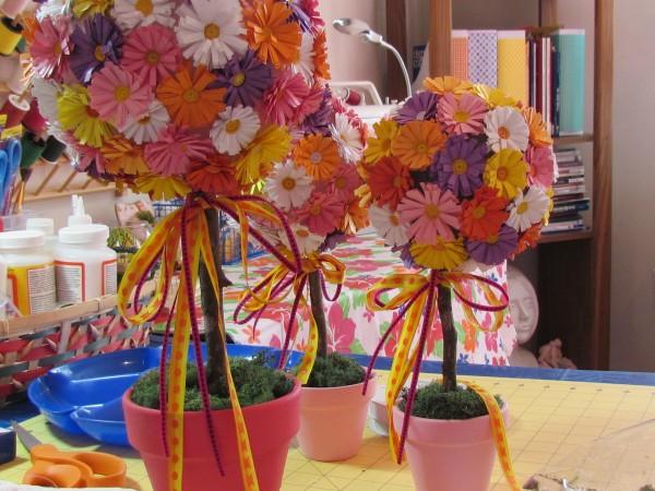 Цветочный дерево своими руками