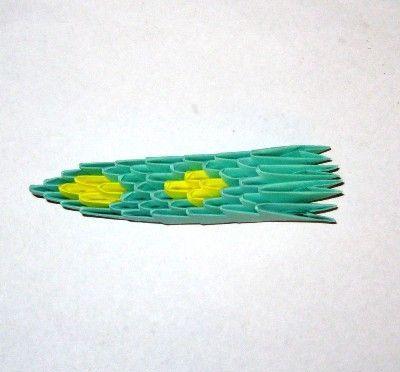 оригами модульное змея схема.