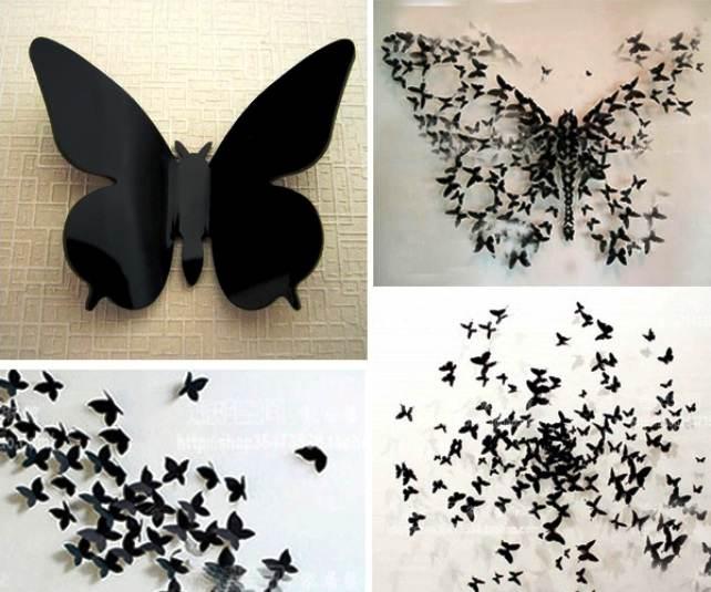 Бабочки 3 д для декора