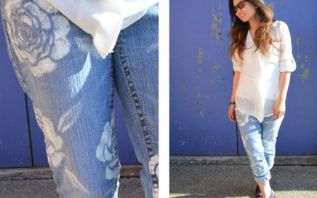 Рисунок на джинсы своими руками 40