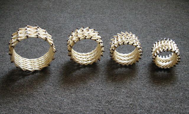 Колесики из спичек (схемы)