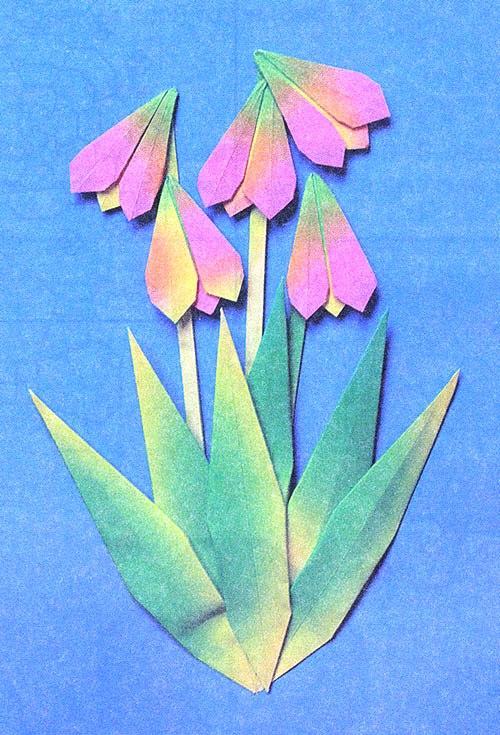 Цветочек из бумаги своими руками для открытки