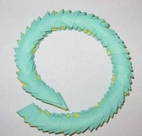 модульное оригами Змею в