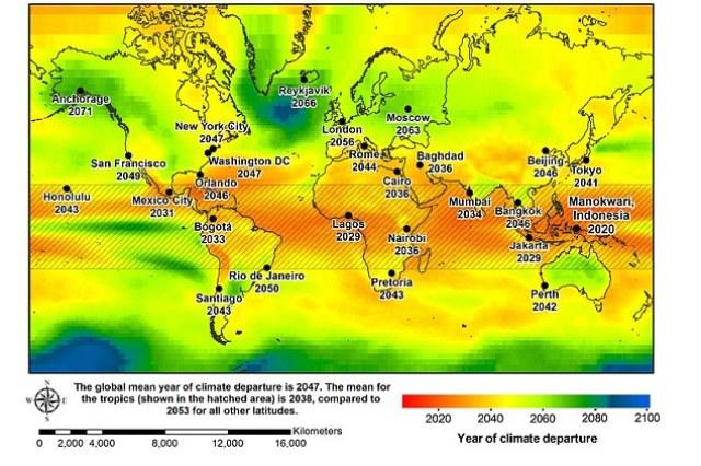 Самая высокая температура на Земле станет самой низкой в 2047 году