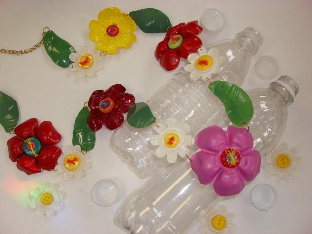 Цветы из пластиковых бутылок